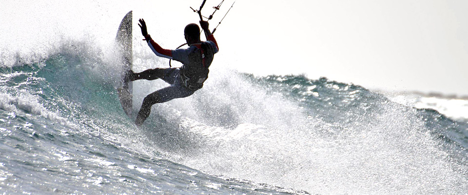 Great waves of Boa Vista, Cabo Verde. Unforgeable kitesurfing experience.